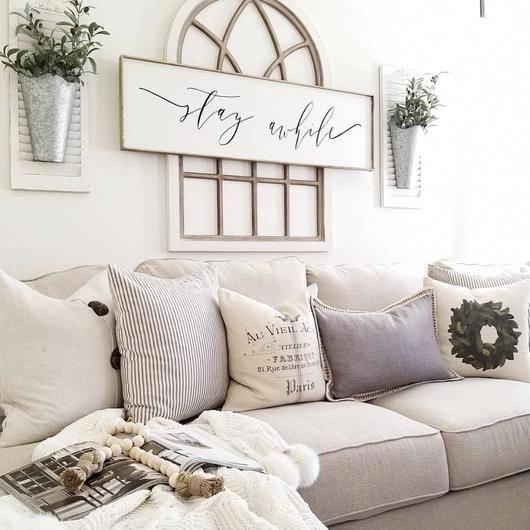 Photo of farmhouse style pillows