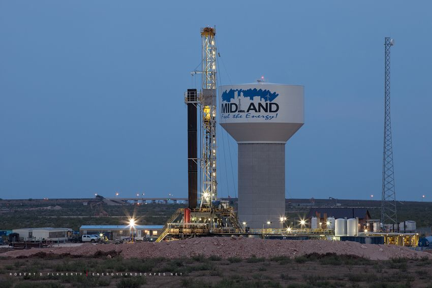 Wireline Field Engineer Odessa Tx: Midland Texas, Feel The Energy, Logo, Water Tower, H&P