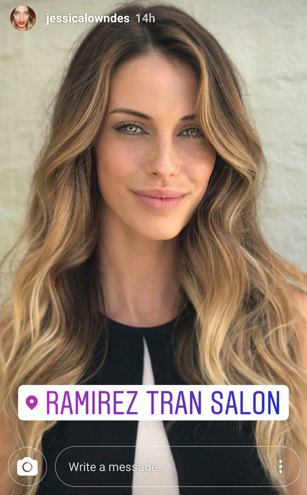 Jessica Lowndes wavy balayage hair Jessica lowndes