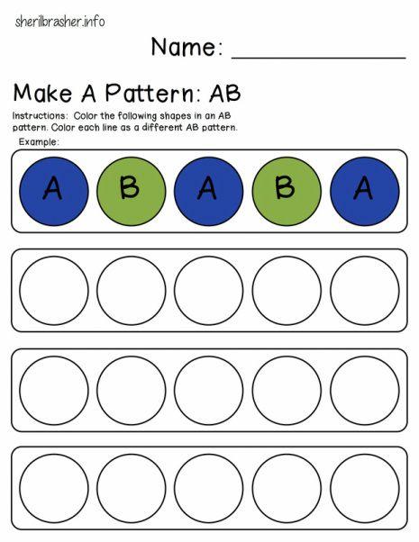 FREE AB Pattern/ 1 2 Pattern worksheet | Fun ideas/ Parenting ...