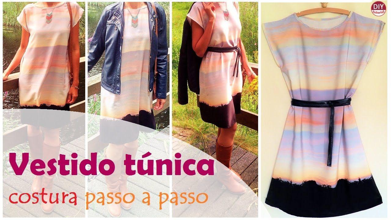 Vestido túnica - costura passo a passo (DIY Tutorial) - VEDA#11