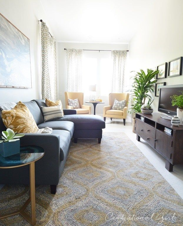 Narrow living room with TV on long wall   Long living room ...