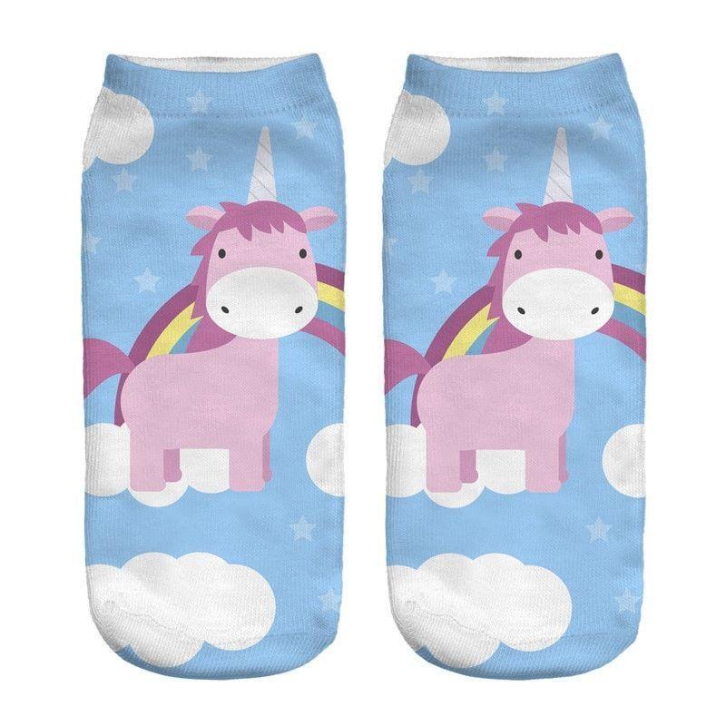 New 2017 Emoji Unicorn Socks