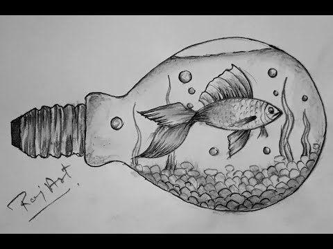 Fish Drawing Pencil Sketch Step By Step Fish Sketch Very Easy Painting By Raj Art Ajmer You Coisas Simples Para Desenhar Desenhos A Lapis Desenhando Esbocos