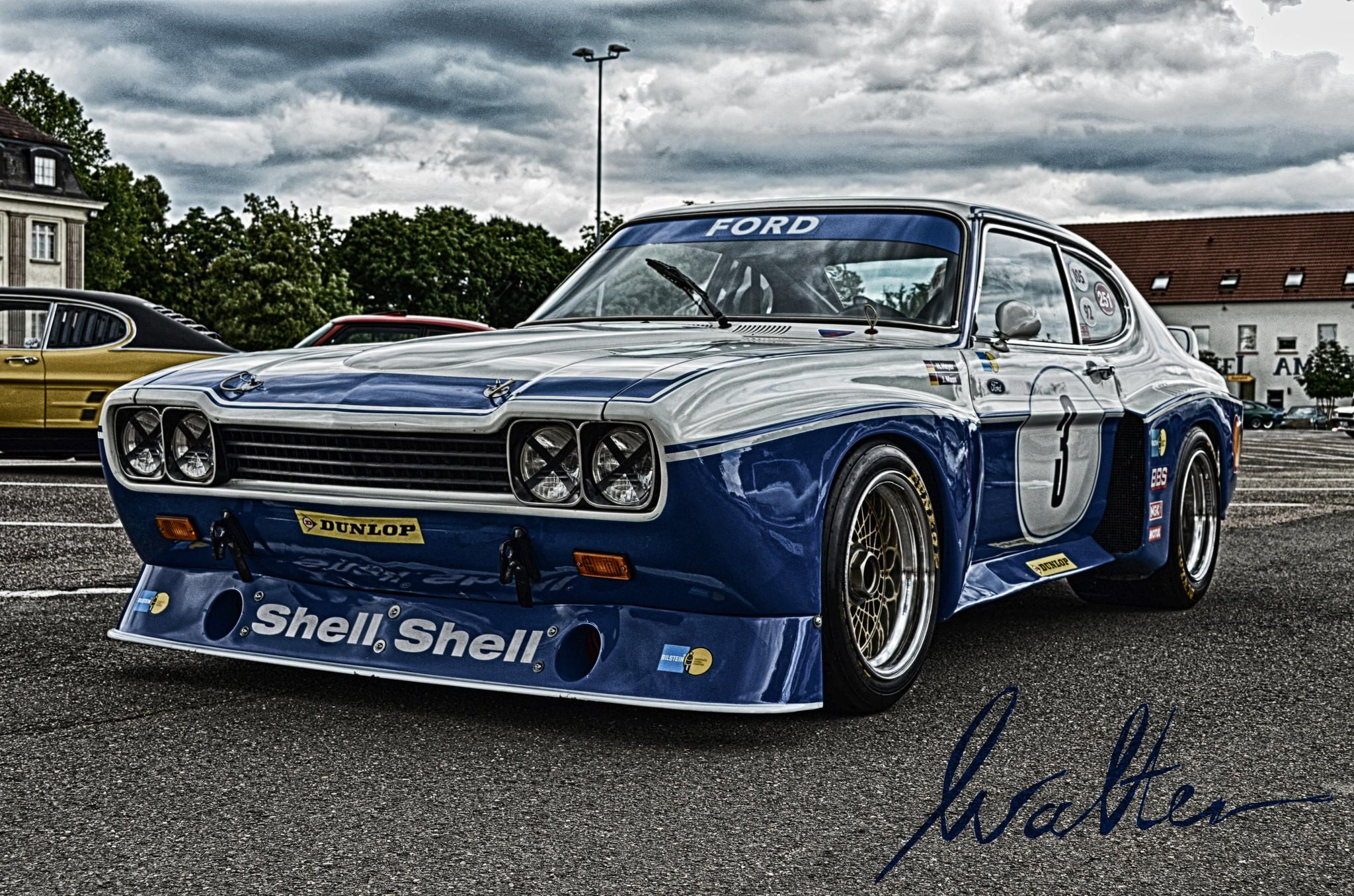 hdr picture of an ford capri rs taken at the european. Black Bedroom Furniture Sets. Home Design Ideas
