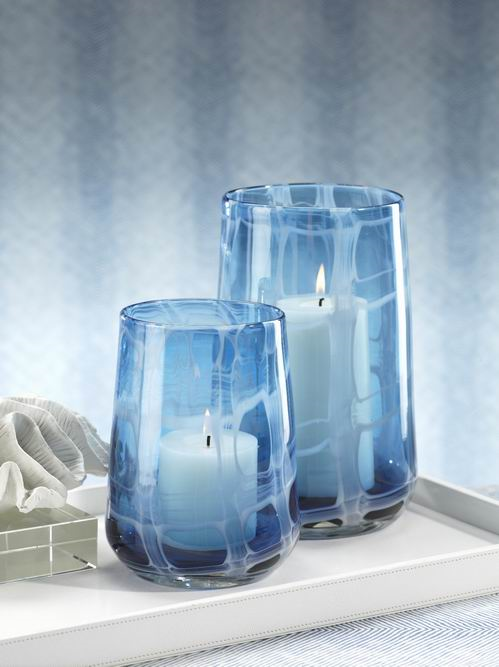 Blue Glass Hurricanes An Amazing Shade Of Blue With A White