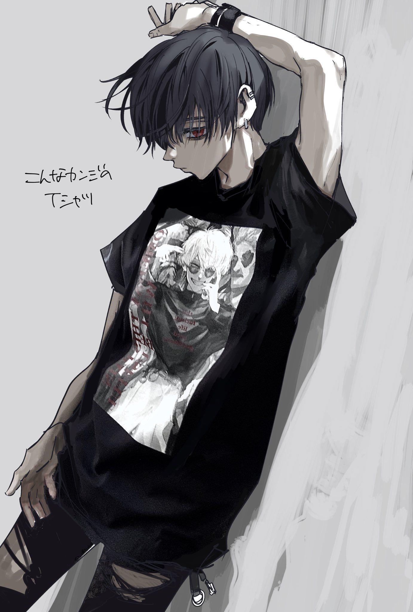 野原もさえ Mosaenohara On Twitter In 2021 Anime Drawings Boy Emo Art Gothic Anime