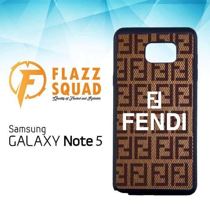 fendi Brown Z3923 Samsung Galaxy Note 5 Case
