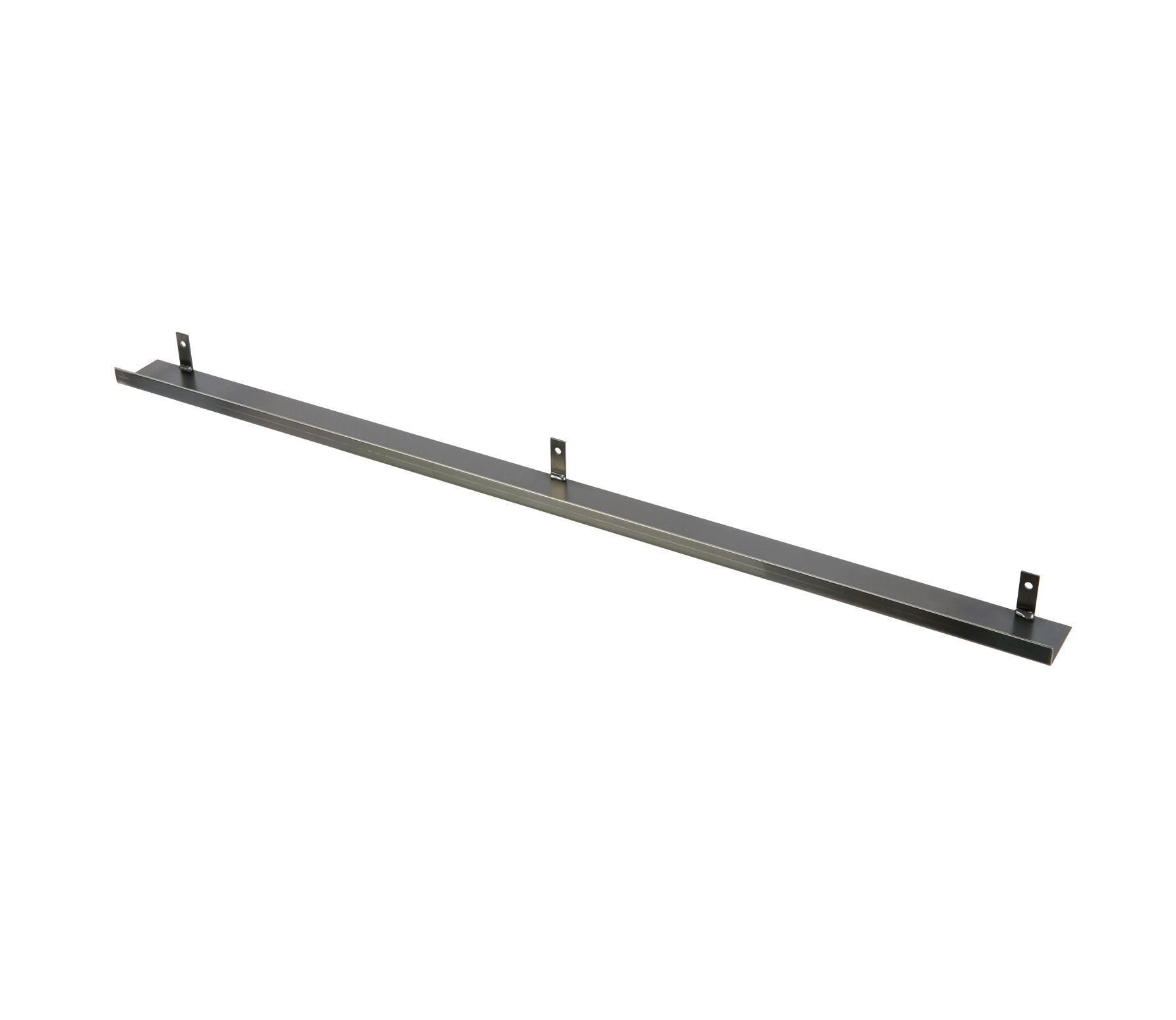 Wandplank Zwart Metaal.Lange Wandplank Barnwood Met Industriele Stalen Beugels