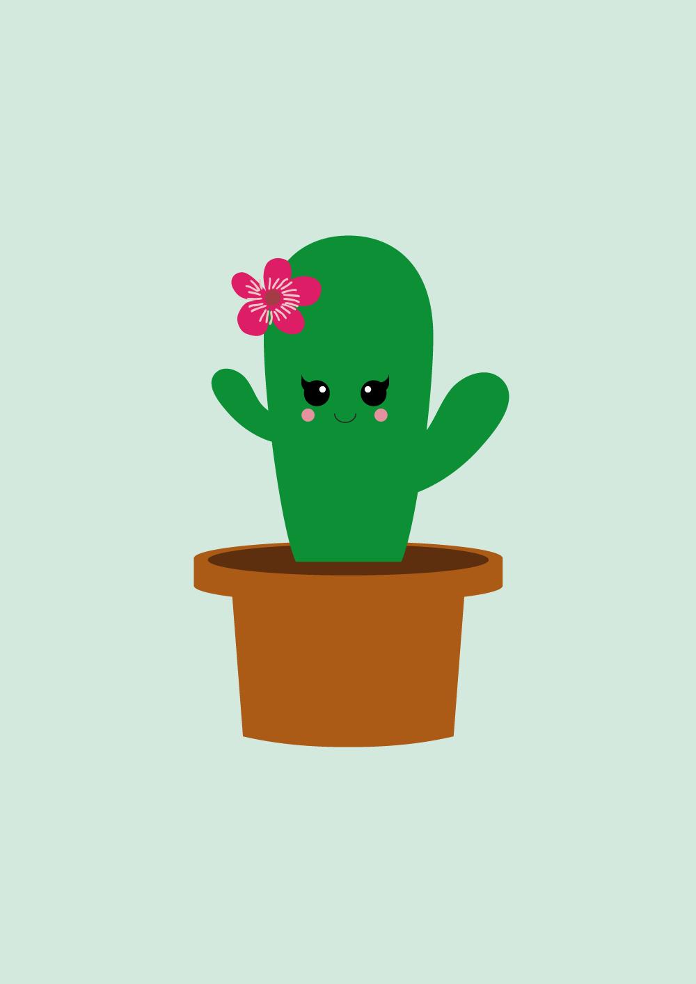 Poster cactus Poster cactusstaat in elke hippe kamer. Ook leuk om kado te doen of om zelf te gebruiken! Zo creëer je een nieuwe look in nietveel tijd en met we...