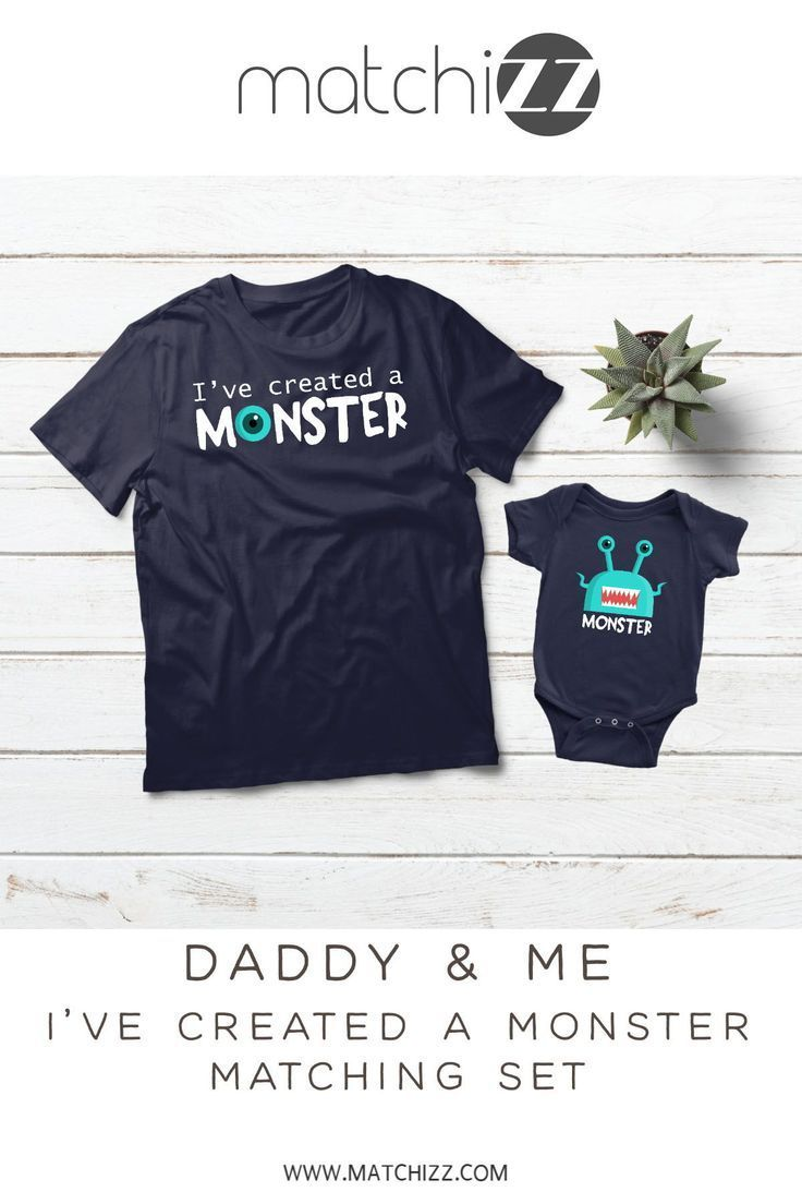3b861580 Dad and Baby Son Matching Shirts I Created a Monster Father Day Gift  #dadandbaby #daddyandme #fatherandson #dadandsonshirts #dadandson  #matchingoutfit ...