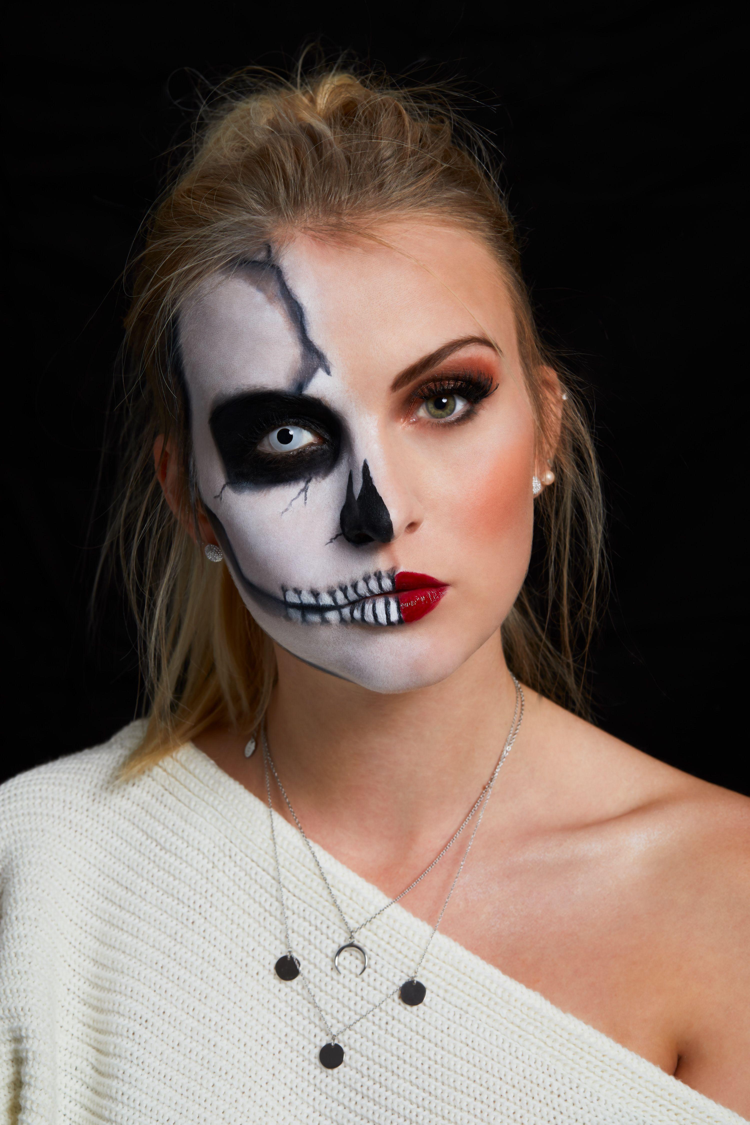 Halloween Schminken Ohne Kostum.Happy Halloween Make Up Idee Katefully Schonheit Wimperntusche Schminken