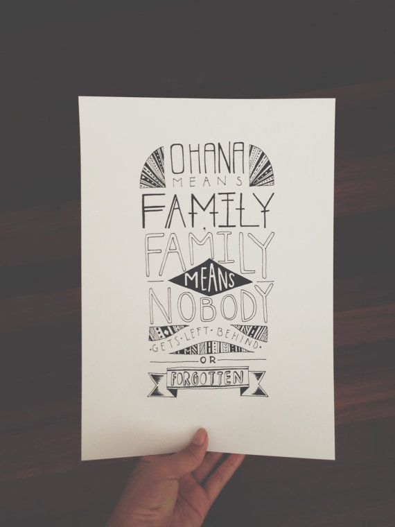 Ohana Means Family Quote Tattoo: Ohana Means Family By MichelleSeeShell On Etsy