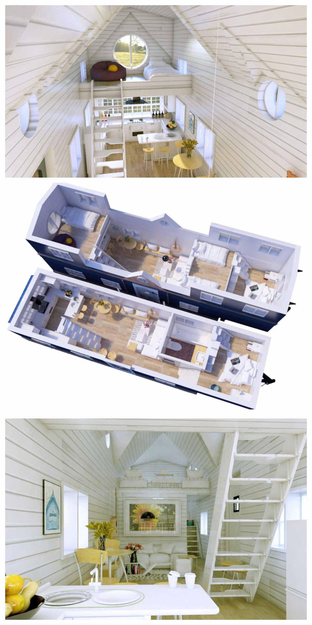 3 Bedroom Tiny House Plans Best Of Split Level Gooseneck Tiny House Cabin Tiny House Floor Plans Tiny House Layout
