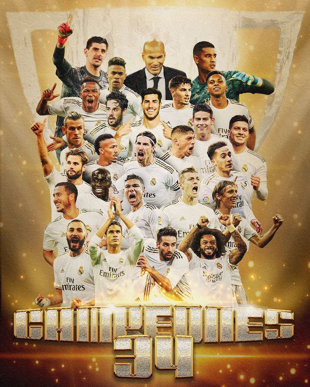 Real Madrid C F 34 On Instagram We Are The Champions Somos Campeones Laliga 2019 20 34ligas Rea In 2020 Real Madrid Wallpapers Real Madrid Madrid