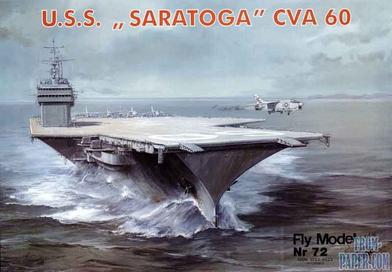 Fly Model Nr 72 USS Saratoga CVA-60 - американский авианосец
