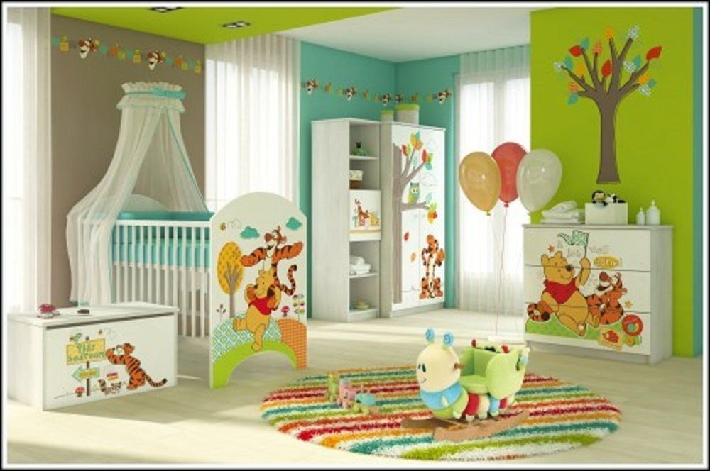 Kinderzimmer Komplett-Set mit Winnie Pooh Motiv. Möbel für das ...