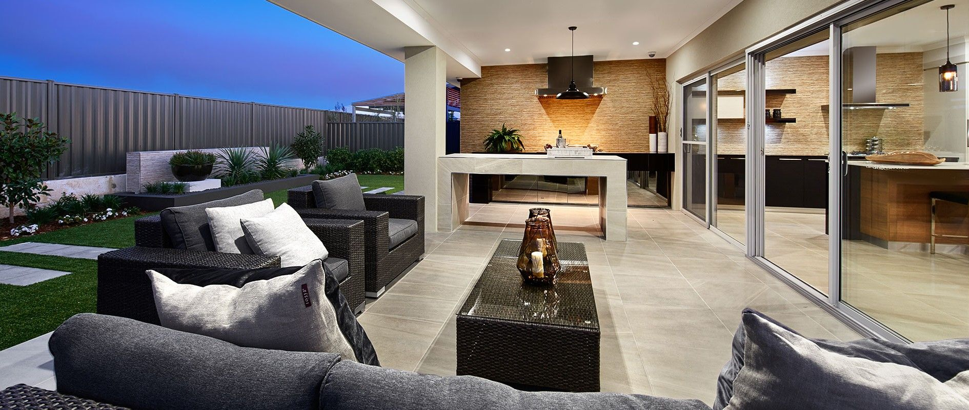 Alfresco design seen in The Sunset Cove Display Home by ...