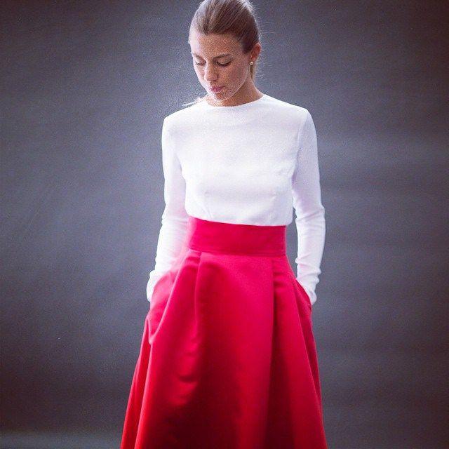 Valentino | Falda roja