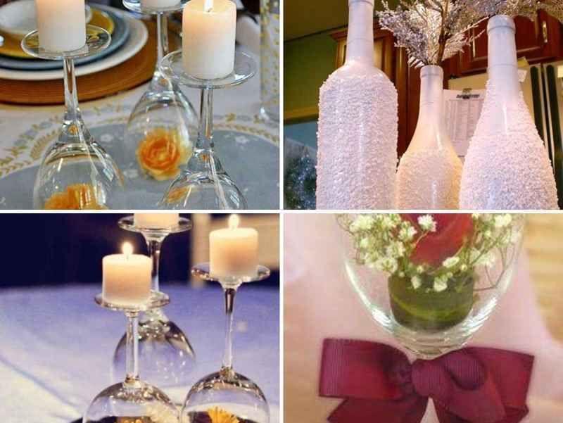 Centros de mesa de 15 a os con copas y botellas 7 tile for Mesas y sillas para 15 anos