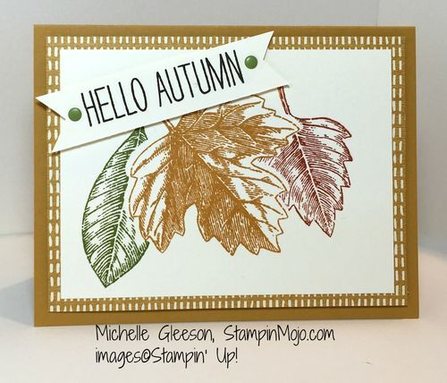 Vintage Leaves. Pals Paper Crafting Card Ideas Cheer All Year Mary Fish Stampin Pretty StampinUp