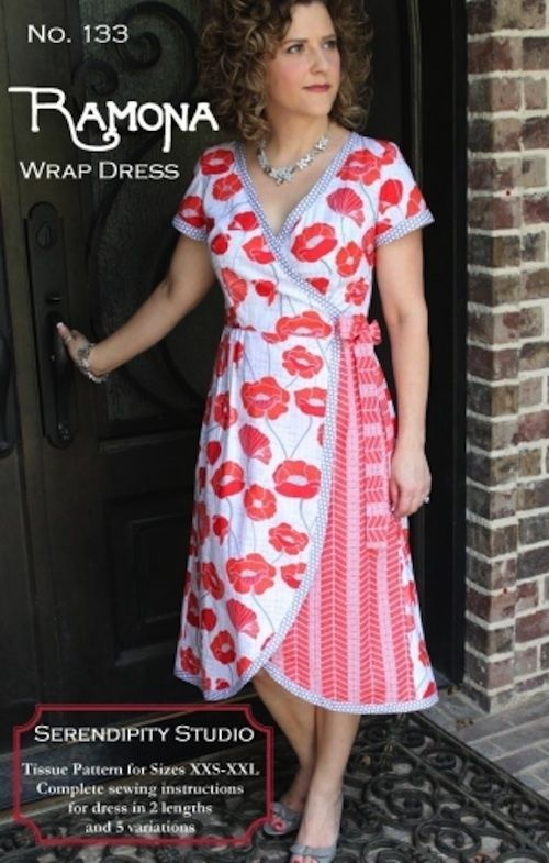 Ramona Wrap Dress - Womens Sewing Pattern by Serendipity Studio