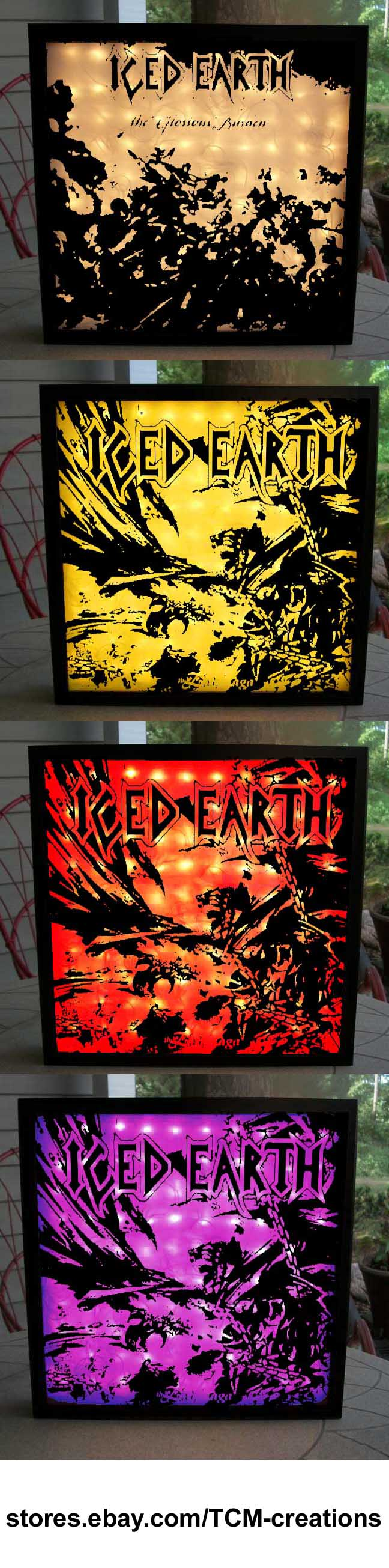 Iced Earth Shadow Boxes with LED lighting. Iced Earth, Night Of The ...