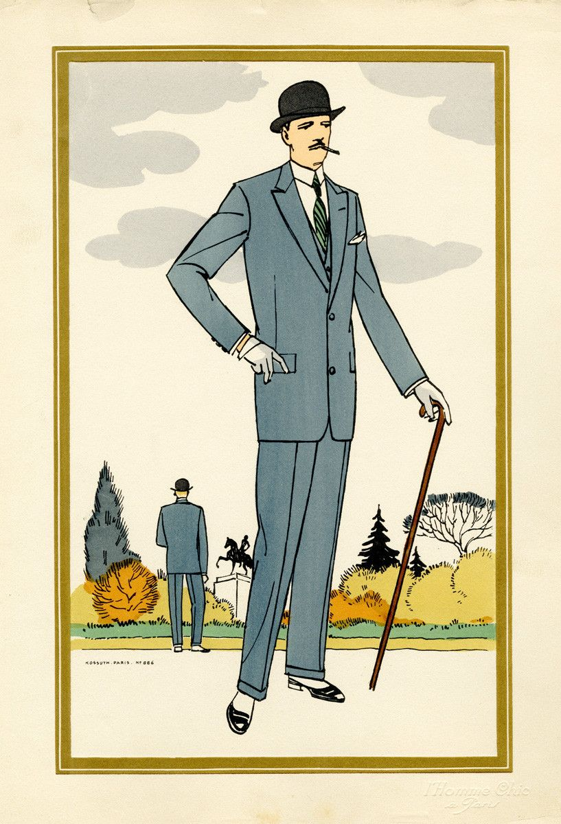 1920s mens fashion mode masculine masculin et art d233co