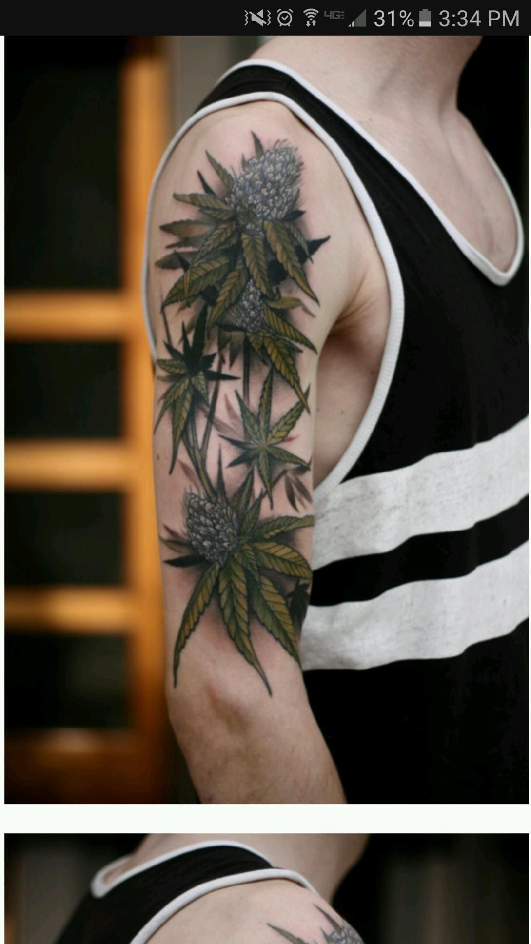 marijuana tattoo weed pinterest marijuana tattoo tattoo and rh pinterest ie Weed Sleeve Tattoo Designs marijuana plant tattoo designs