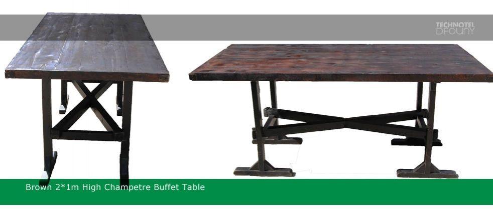 Buffet Table 85cm high Brown Garden Table