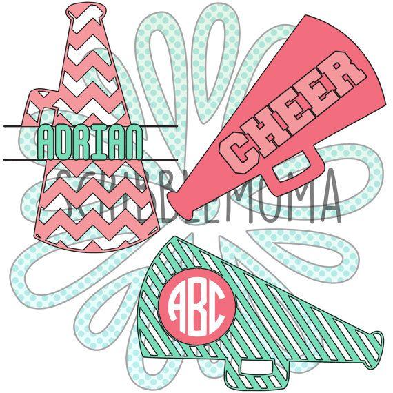 Cheer Svg Files Cheer Monogram Svg Cheer Megaphone Svg Etsy Monogram Svg Vinyl Crafts Cheer