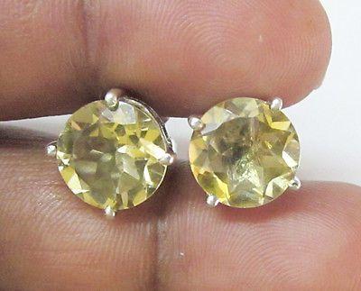 Sterling Silver Gemstone Studs by unique_jewelryshop