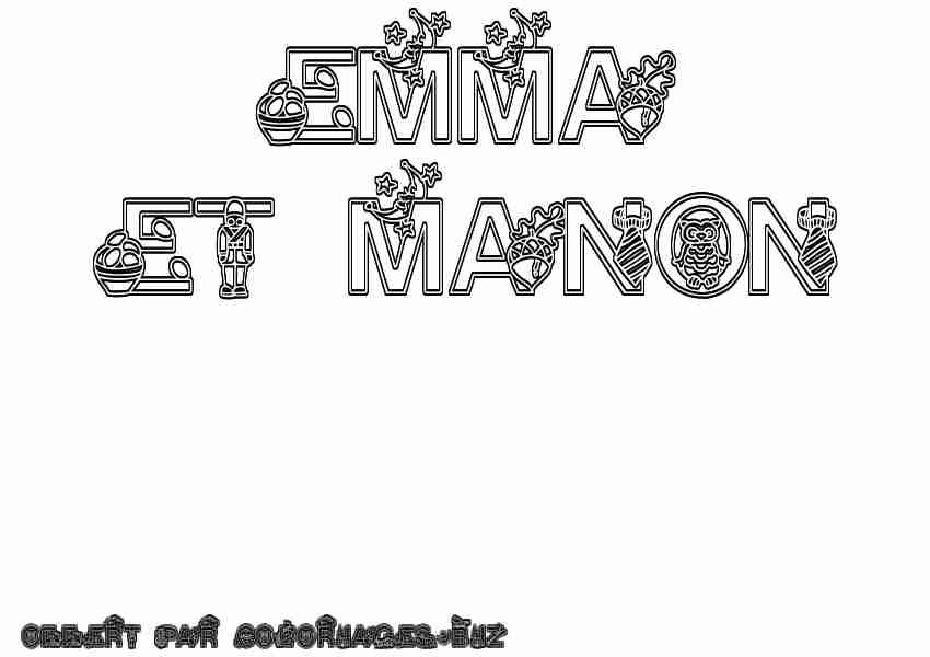 Coloriage prénom Recettes à cuisiner Pinterest - free receipts