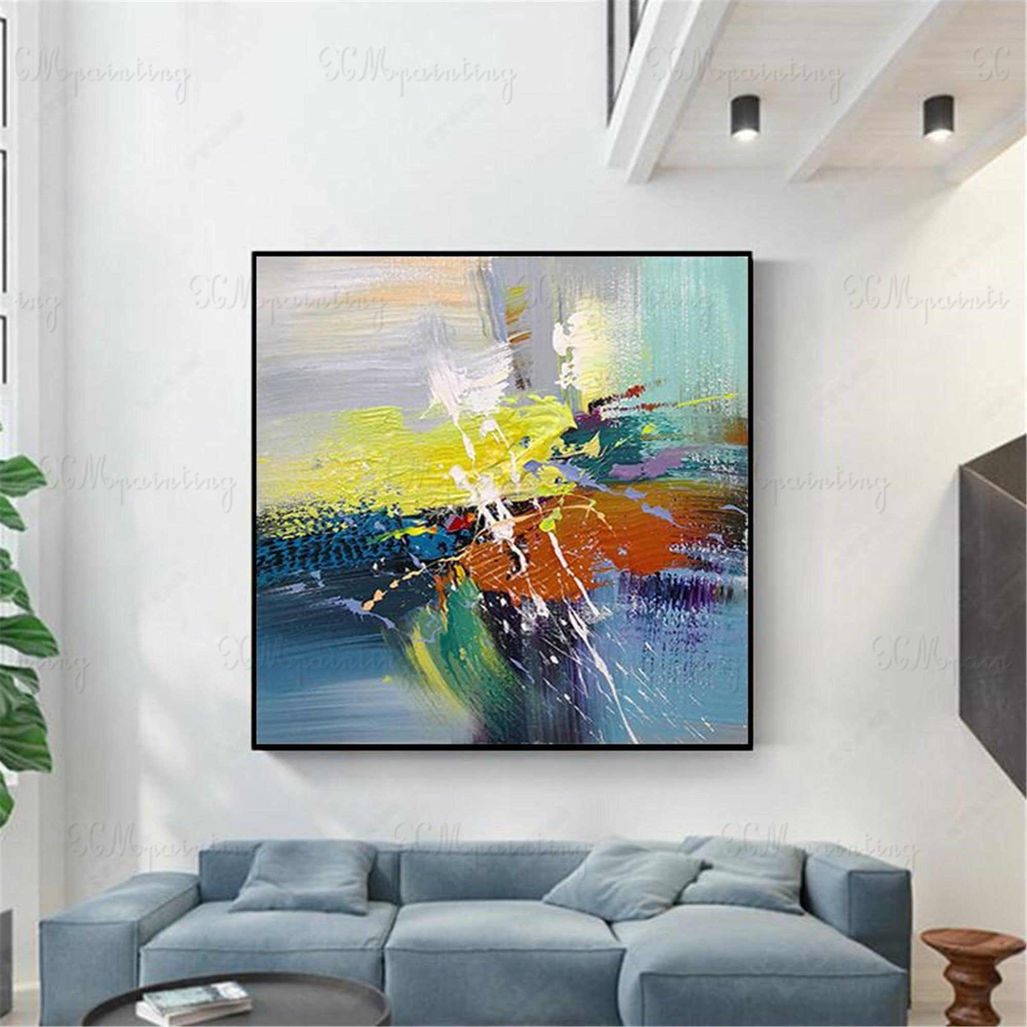 Abstract Painting Wall Art Pictures For Living Room Bedroom Etsy Abstract Painting Painting Wall Art Pictures