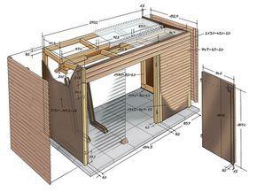 zeichnung des schuppens boat house pinterest schuppen zeichnungen und gartenh user. Black Bedroom Furniture Sets. Home Design Ideas