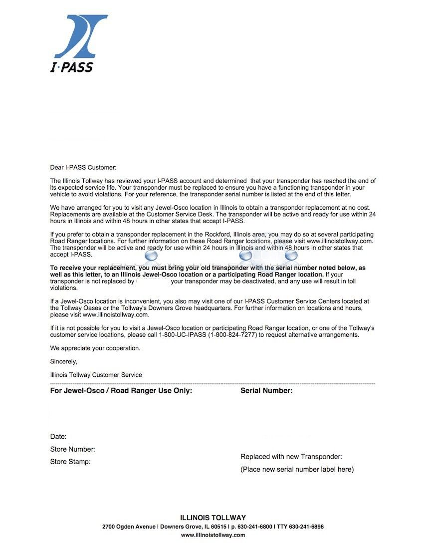 Ipass Renewal Letter Example For Renewing Expired Ipass