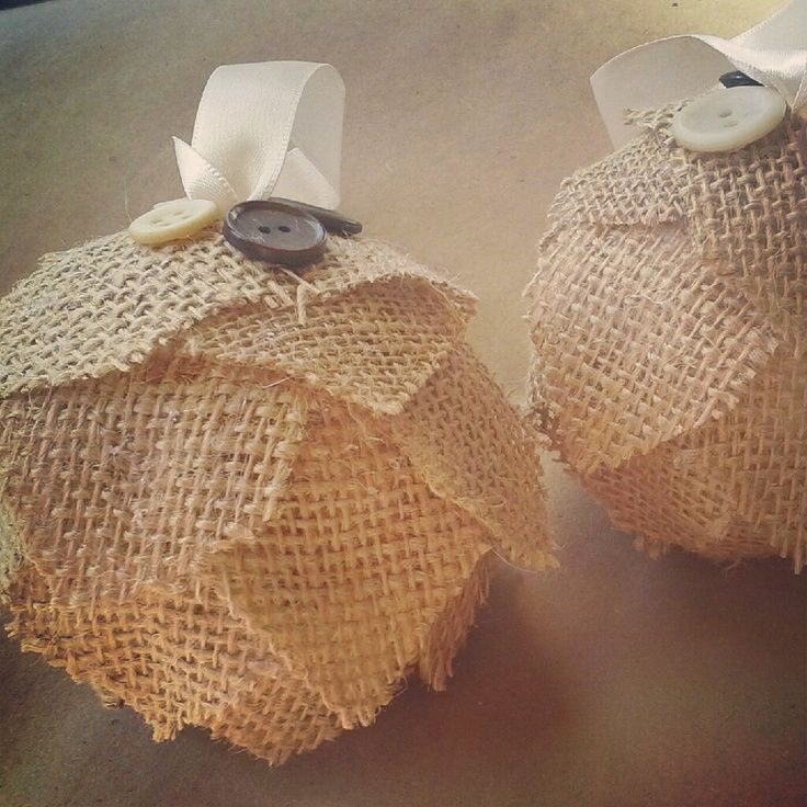 burlap christmas ornaments | Burlap Christmas Ornament-OAK-Unique-Folk/Rustic Christmas. $6.00, via ...