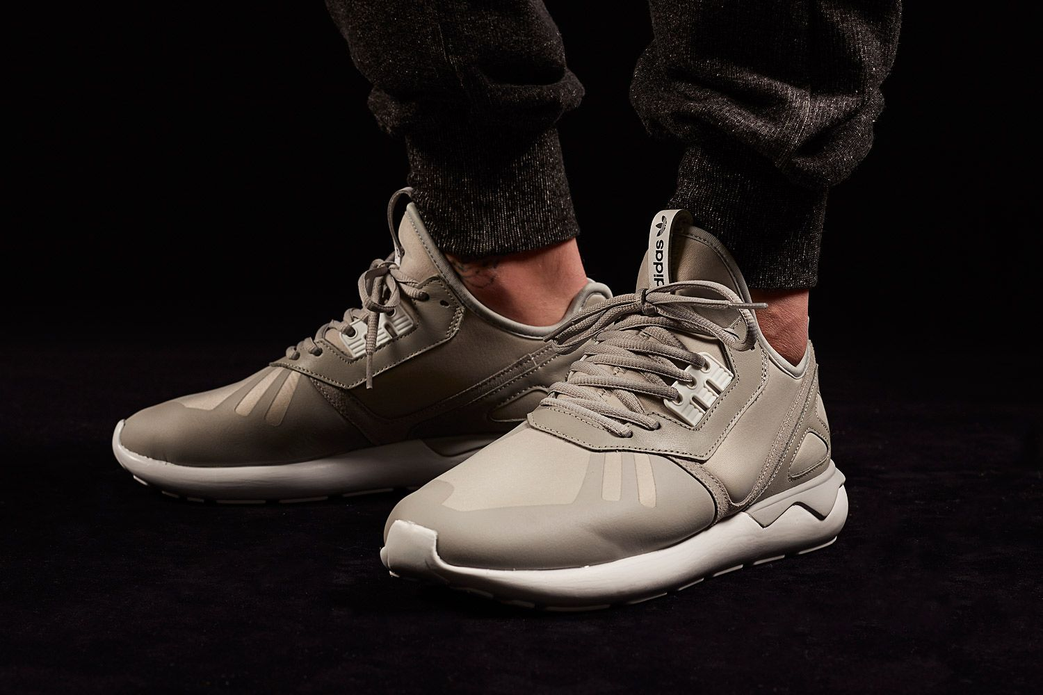 Adidas Tubular Grey On Feet