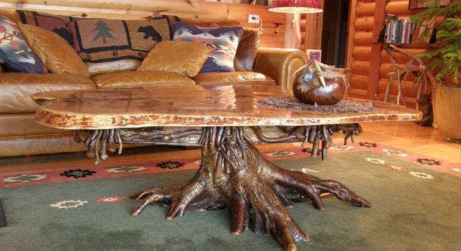 Adirondack style rustic furniture handmade wood - Adirondack style bedroom furniture ...