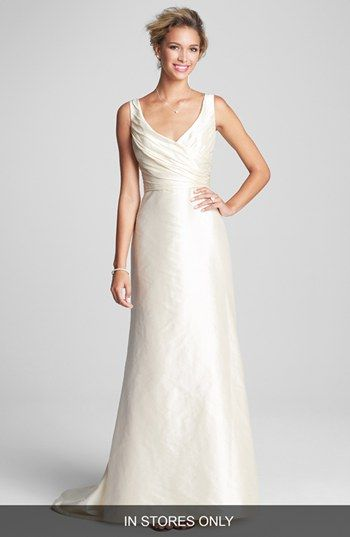 Caroline DeVillo Fluted Silk Shantung Dress In Stores Only Available At Nordstrom