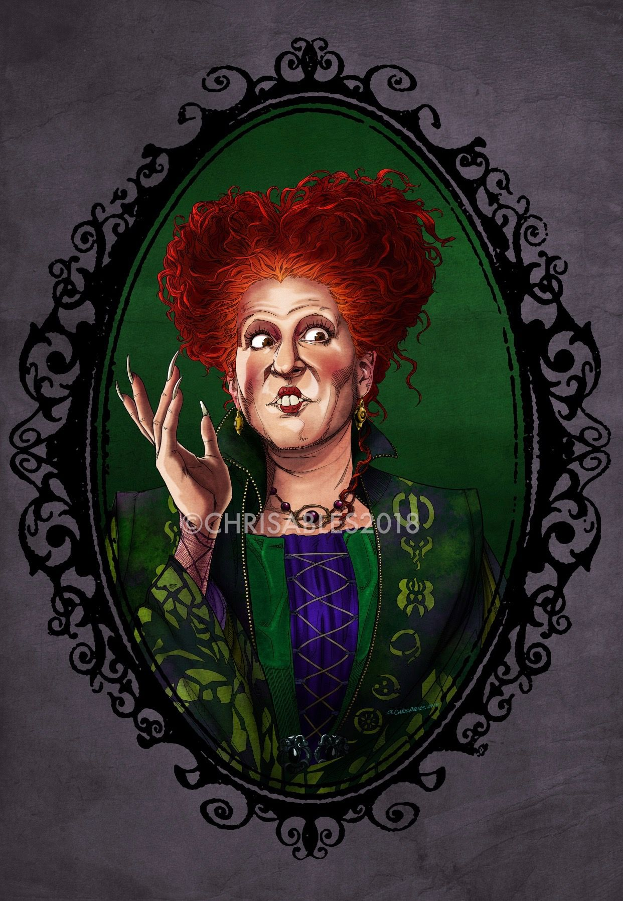 Christopher Ables Disney Hocus Pocus Winifred Sanderson Halloween Drawings Halloween Art Hocus Pocus Witches
