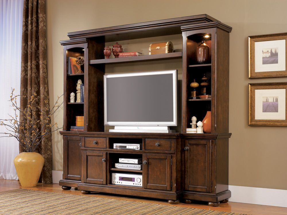 Merveilleux Home Gallery Furniture, Porter Complete Entertainment Center