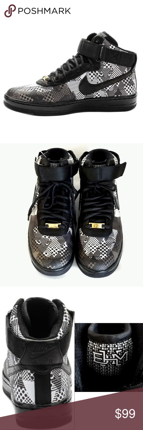 NWT Nike Air Force One BHM High Top Sneakers Shoes Special