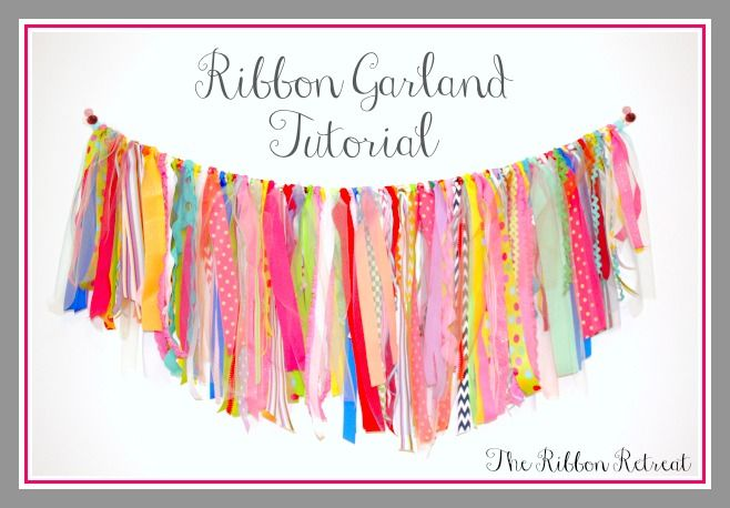 my craft room ribbon garland valance tutorial and supply list rh pinterest com