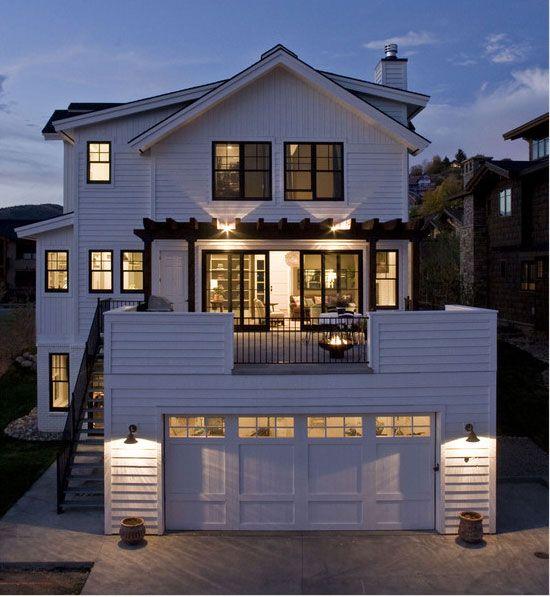 Balcony Above Garage Modern Farmhouse Exterior Modern Cottage