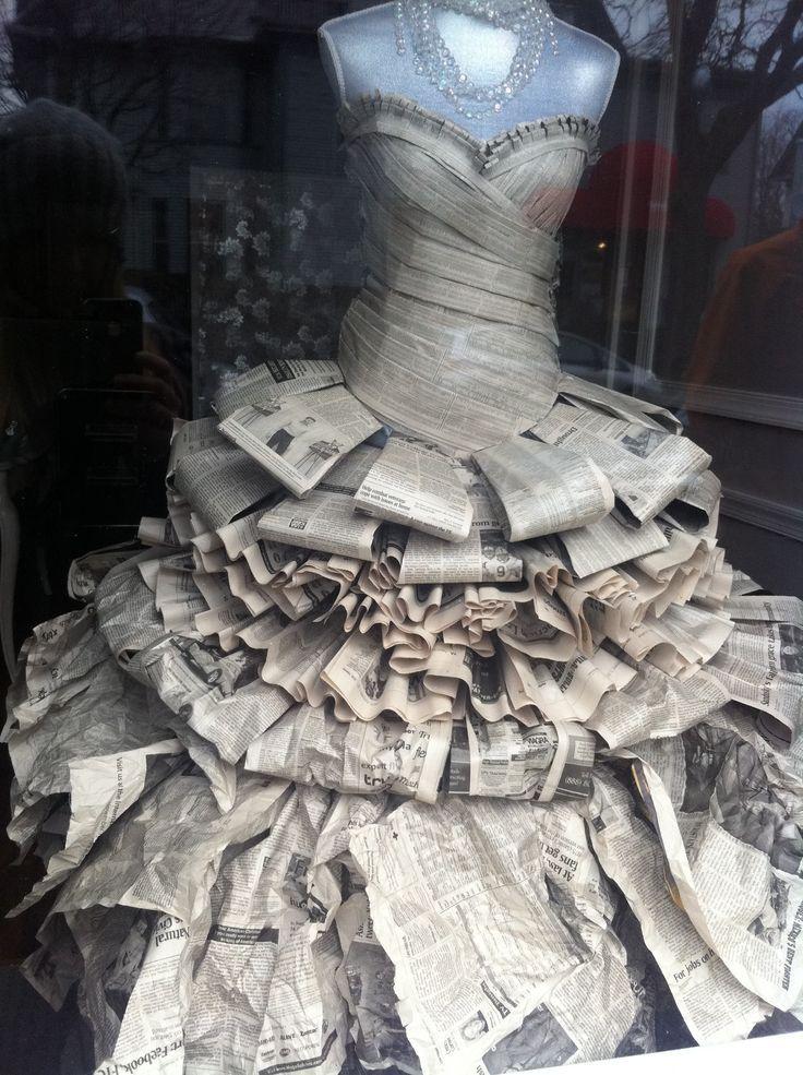 Risultati immagini per how to make a newspaper dress