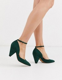 ASOS DESIGN Salvation block heeled mid shoes in rose gold | ASOS -   18 green wedding Shoes ideas