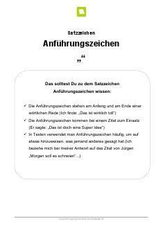 Arbeitsblatt: Satzzeichen Anführungszeichen | Pinterest ...