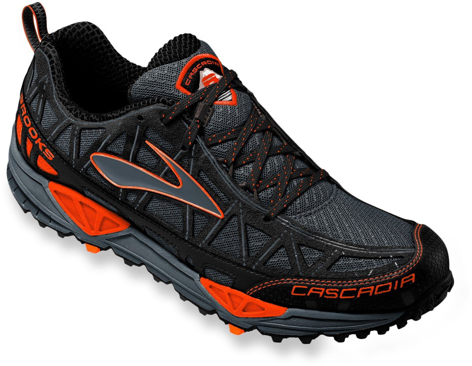 c4e6988d813 The traction and responsive supportive to tackle ultras or quick outings  through local trails—Men s Brooks Cascadia 8 Trail-Running Shoes.