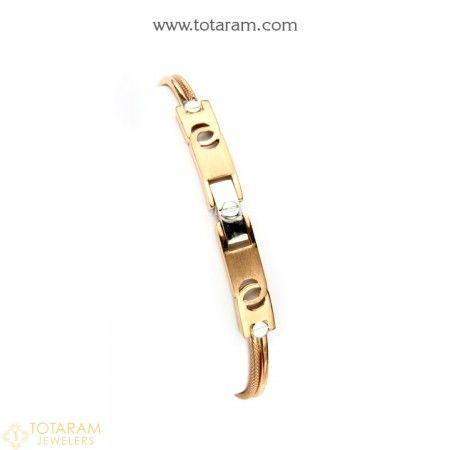 18K White Rose Gold Polish Bracelet for Men 235GBR1683 Buy